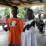 Two of our youngest beneficiaries in Bo, who will be able to start school