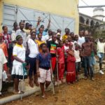 A group shot of some of our beneficiaries in Freetown, who will be supported with limbs and education