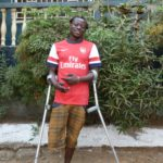One of our beneficiaries in Sierra Leone, who has now been given a new limb