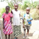Three young beneficiaries from Sierra Leone, who have been given new limbs and access to education