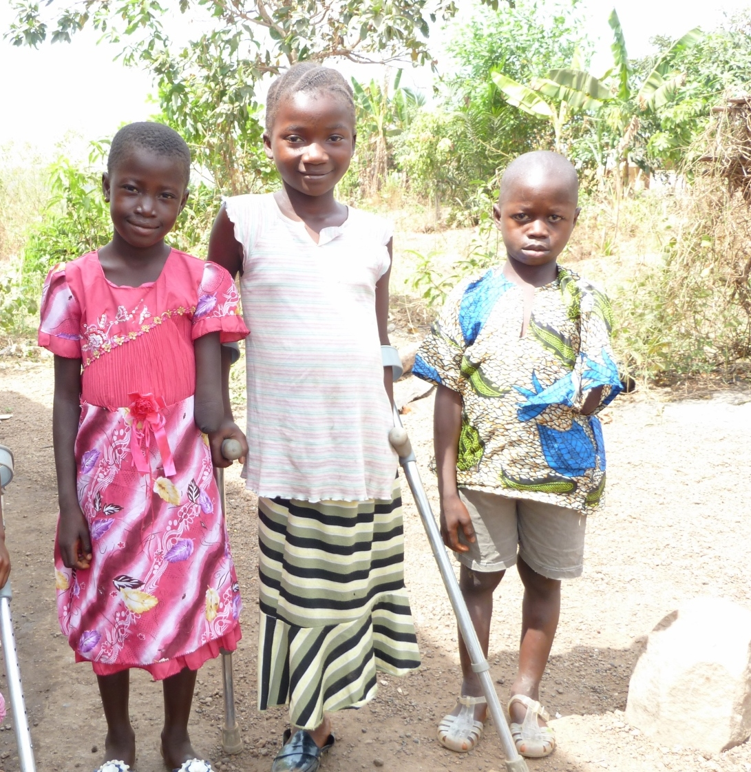Three Young Beneficiaries From Sierra Leone Who Have Been Given New Limbs And Access To Education