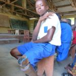 One of our beneficiaries from Makeni, who has now been given a new, ligther limb