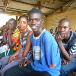 A group shot of our beneficiaries in Makeni