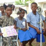 Three of our beneficiaries from Makeni, who have now been given new limbs