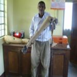 Jaipur Limb technician Julius in the new ELoH sponsored Limb Centre.