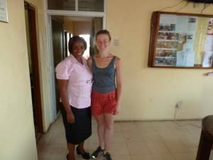 Rebecca Newsom with Ramatu Kargbo, ARC Operations Director