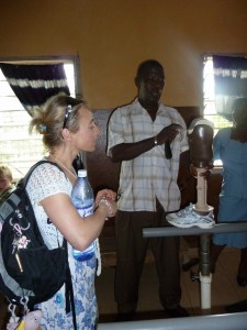 Prosthetic specialist explaining about the types of limbs our beneficiaries will recieve