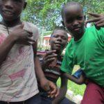 Matumaini boys pose for the camera