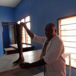 Matumaini prosthetist at the school's limb workshop