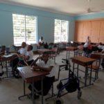 Matumaini school children waiting for the start of a lesson