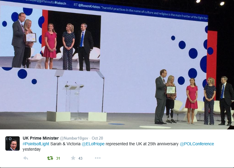 David Cameron Points of Light award tweet