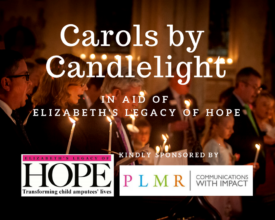 Carol Service, St Bride's Church, Elizabeth's Legacy of Hope, helping child amputees walk