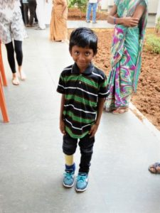 Elizabeth's Legacy of Hope, Amputee project, ELoH, child amputee, India, Andhra Pradesh, prosthetic